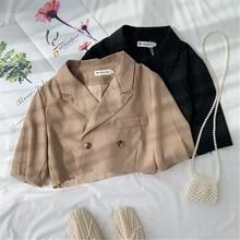 2019 New Spring Summer Turn Down Neck Long Sleeve Button Brief Irregular Short Jacket Women Coat Fashion Tide new coat