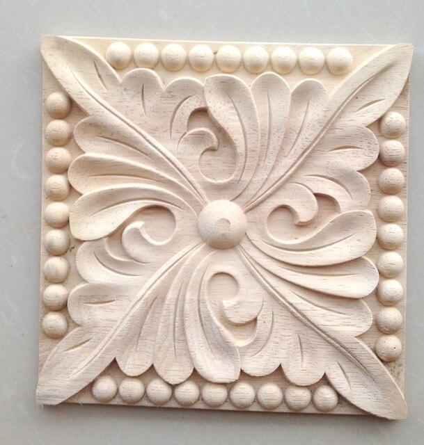 Dongyang Wood Carving Solid Wooden Door Furniture Bed Corner Flower Home Decoration 492 Squares