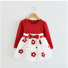 Winter Baby Girl Dress Tulle Flowers Newborn Baby Baptism Clothes For Girl Party Children's Princess Dresses Girls School Wear