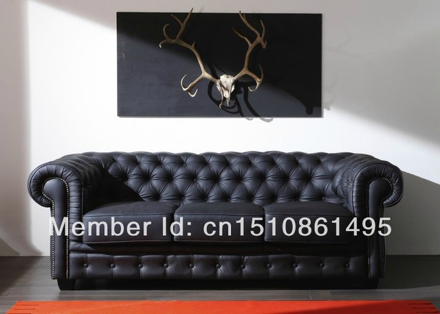 High Quality Low Price Sofa Leather Chesterfield 3 Seater