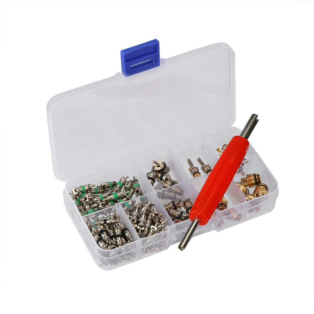 135 Pcs Assortment A/C Shrader Valve Core R134 Kit Of 11 Kinds Of AC Valves HVAC TJ
