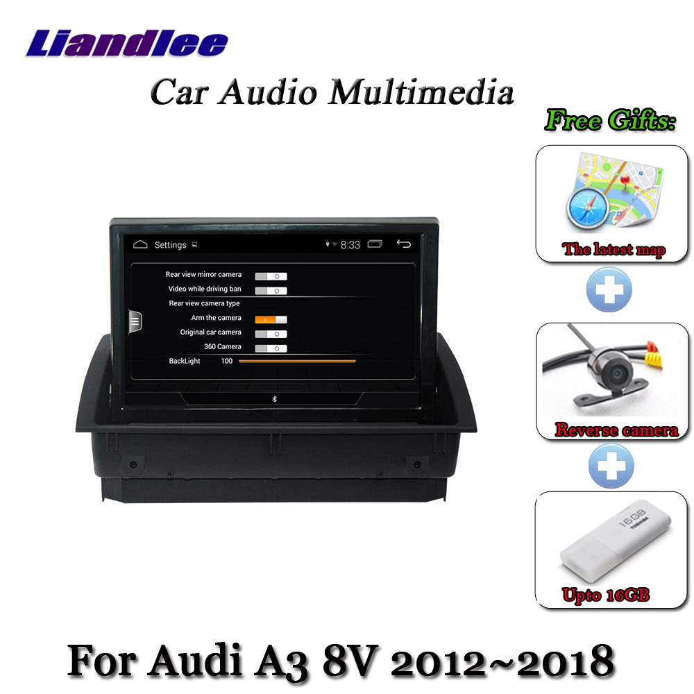 Liandlee Car Android System For Audi A3 8V 2012 2018 Stereo Radio TV Carplay Camera GPS