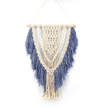 Bohemian cotton art tapestry home accessories wall hanging DIY woven decoration