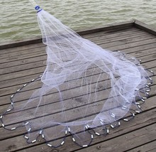 Finefish Cast net hot sale 2.4-7.2M American hand cast net 1*1cm small mesh high quality outdoor sprots throw catch fishing net(China)