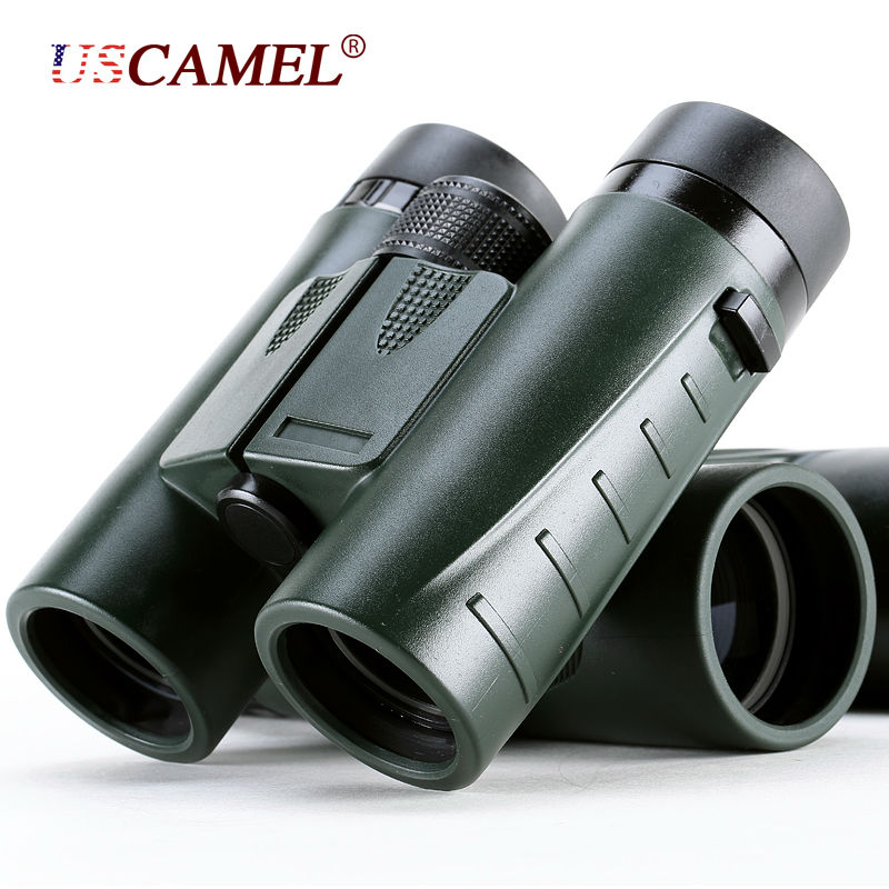 Military HD Compact Binoculars 8x32 Optics Telescope Zoom Powerful Vision Objective Lens Army Green for Hunting Sport USCAMEL 8x zoom telescope lens back case for samsung i9100 black