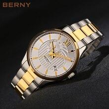Берни механические мужские часы лучший люксовый бренд золотые часы мужские Diamond Автоматические наручные Полный нержавеющей стали часы AM072