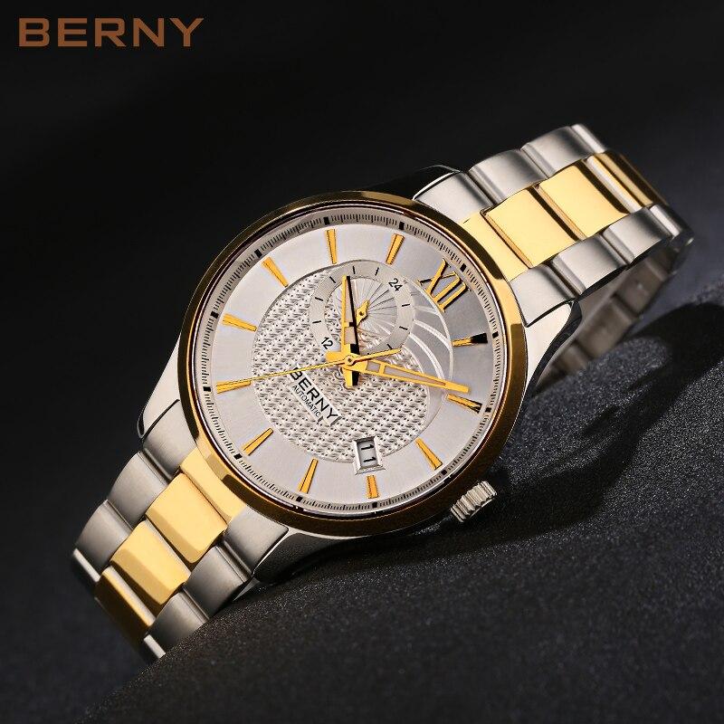 BERNY Mechanische herenhorloge het beste luxe merk Gouden horloge - Herenhorloges
