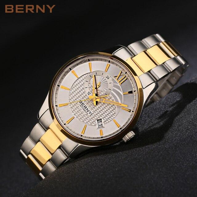 548dac92fe0 BERNY Relógio Dos Homens Mecânicos o Melhor Relógio De Ouro Dos Homens de  Luxo da marca