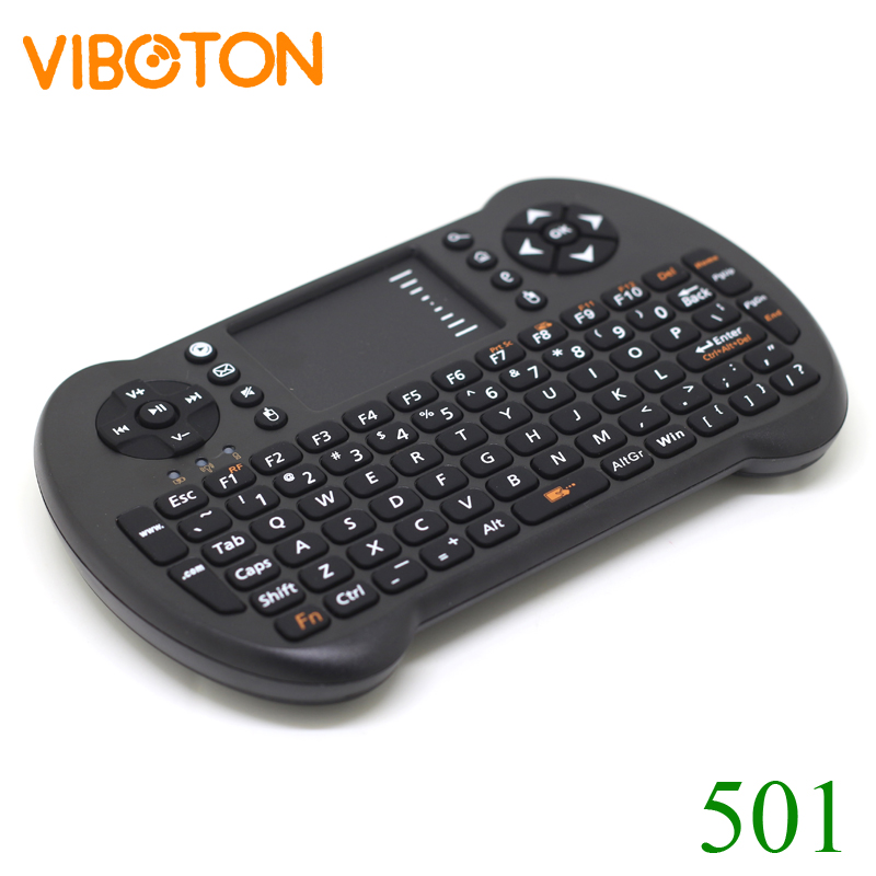 [Free DHL] VIBOTON 501 Multi-Function Mini 2.4G Wireless Keyboard+Air Mouse+TouchPad For Android TV Box/PC - 100pcs