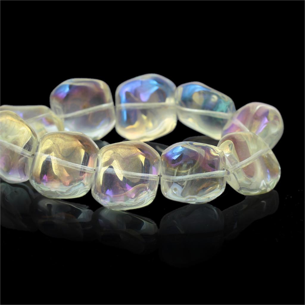 Glass Loose Beads Irregular Font
