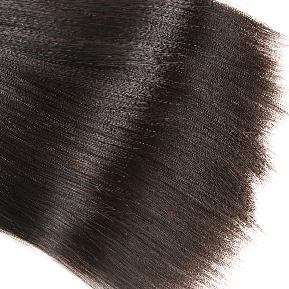 Karizma brasilianska raka hårbuntar 3 st. Lot Natural Black Color - Mänskligt hår (svart) - Foto 5
