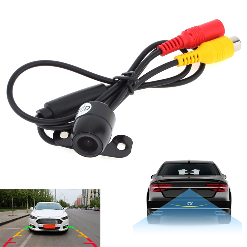 18mm Rear View Camera Wide Angle Waterproof Car Back Reverse Camera CCD Light Night Vision Parking Assistance Camera