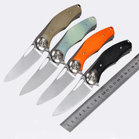 SALE Folding Knife 59 60HRC D2 Blade G10 Steel Handle Outdoor Camping Hunting Survival Tactical Pocket