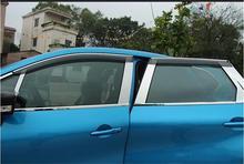 Авто Окно Visor Vent Оттенки Для Renault Captur 2015 2016 2017 Дождь Отражатель Черный 4 шт./компл. PP + Нержавеющая Сталь навесы
