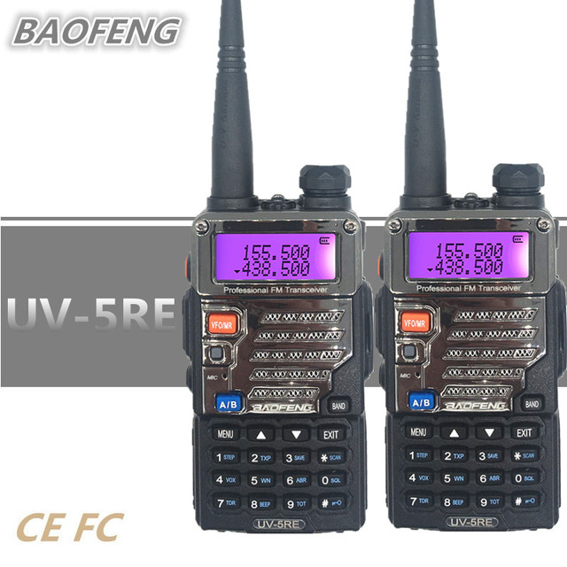 1/2/3/4 BAOFENG UV-5RE Walkie Talkie Update UV-5R Handheld Ham CB Radio Station Amateur UHF VHF HF Transceiver Woki Toki Scanner 1
