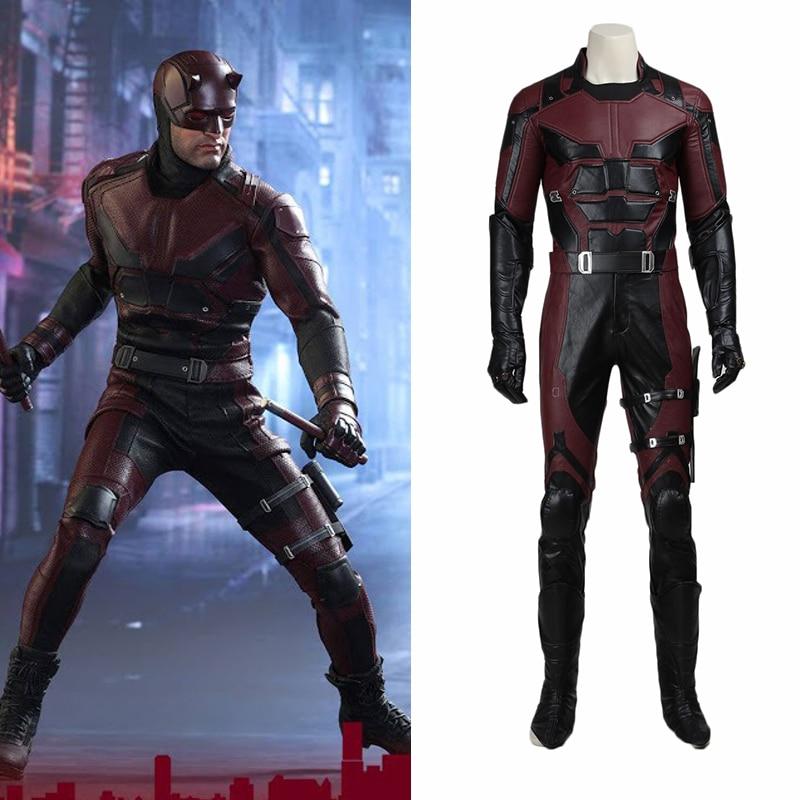 Daredevil Cosplay Matt Murdock Costume Jacket Superhero Outfit Props Adult Men Halloween Party Full Set Custom Made