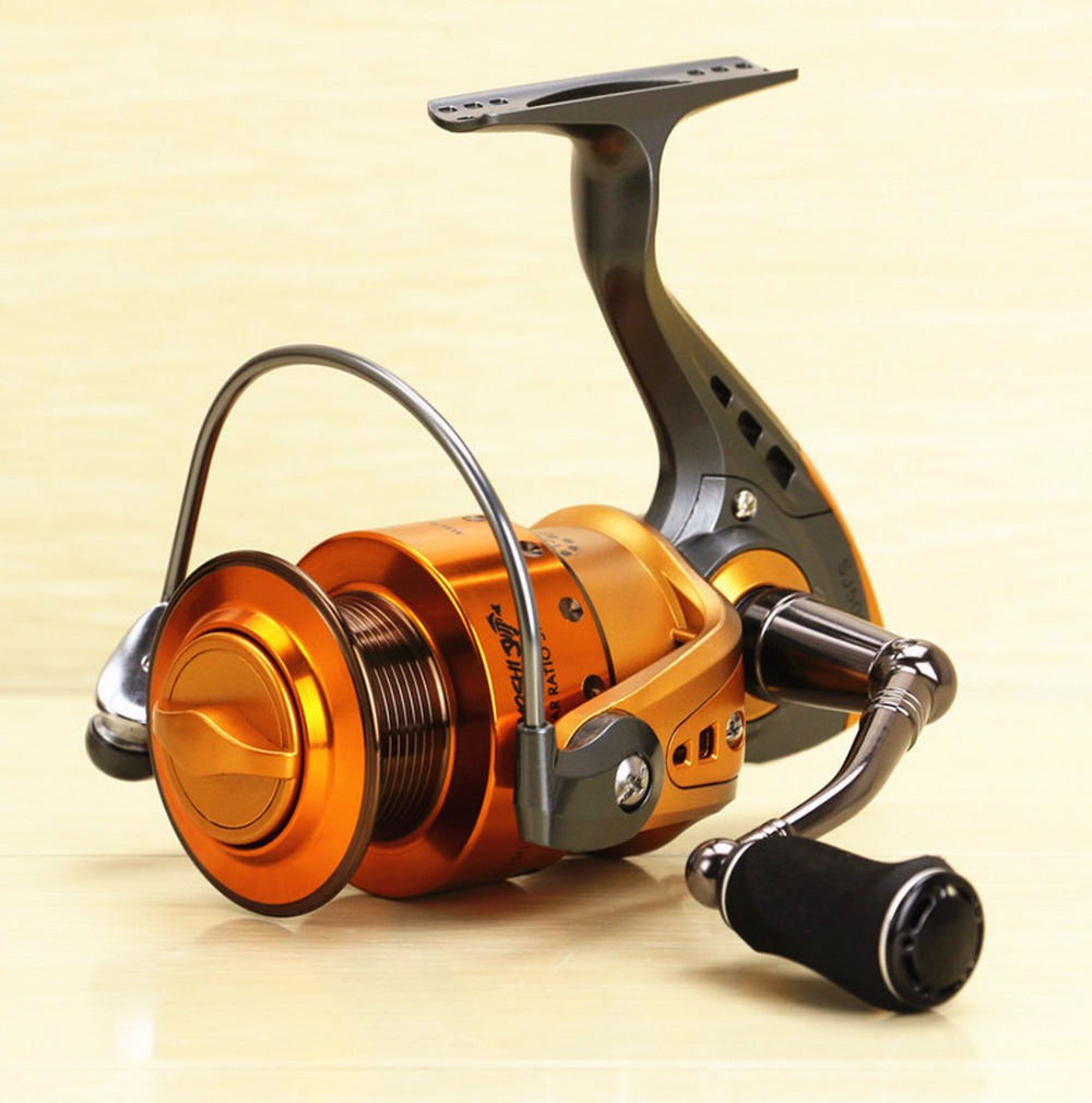 HOT SALES SJ spinning fishing reel 14 Ball Bearings  Pre-loading front drag full metal Instant anti reverse EVA knob CNC handle 3bb ball bearings left right interchangeable collapsible handle fishing spinning reel se200 5 2 1 with high tensile gear red