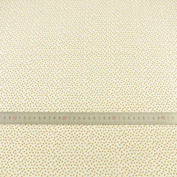 Dzieła sztuki miernik tkaniny Patchwork małe brązowe kwiaty projekt Fat Quarter światła żółta tkanina bawełniana dla DIY lalki ubrania Tecido