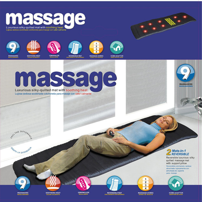 Full Body Electronic Massage Mattress Heating Vibrating Head Neck Traction Cervical Pain Relief Therapy Massager Bed