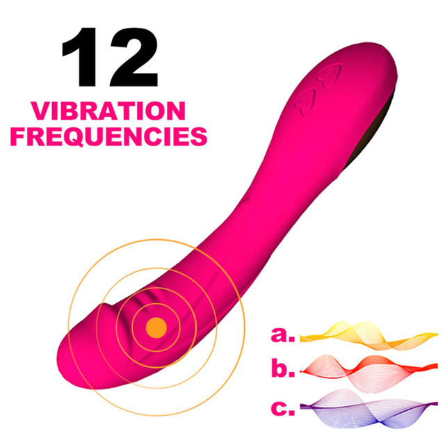 USB Dildo Vibrator 12 Speed G-spot Vaginal Stimulator Clit Massager for Female Masturbation Pleasure Sex Toys for Women