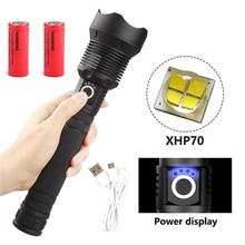 120000 lumens XLamp xhp70.2 most powerful flashlight usb Zoom led torch xhp70 xhp50 18650 26650 Rechargeable battery for hunting