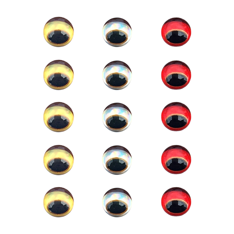 Fishing Lure Eyes 300pcs/set 3D Simulation Eyeball Down Crankbait Minnow Popper VIB Artificial Fish Eyes With Eyebrow