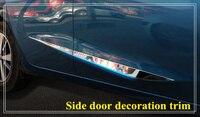 Höher stern edelstahl 4 stücke seite tür dekoration bight trim mit logo für Nissan Lannia/bluebird 2016