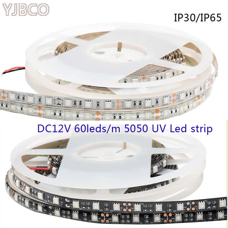 Tiras de Led 395nm ultravioleta tira conduzida roxo Modelo Número : 5050 uv Strip