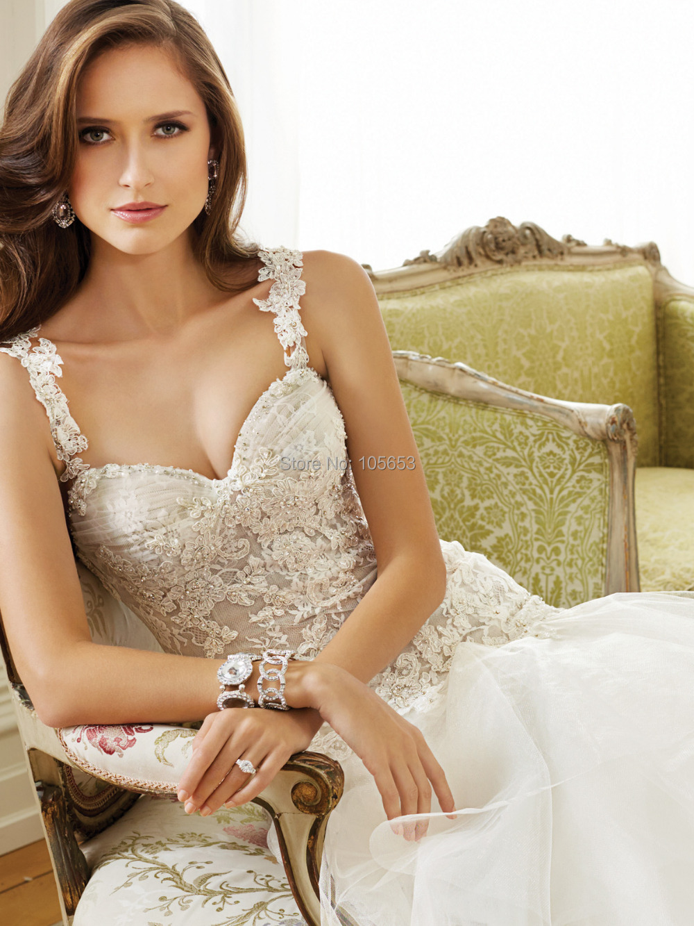 Fashion Mermaid Sweetheart Long Lace Beaded Detachable Straps Wedding Dress  2017 Bridal Gown Vestido De Noiva ZY195 In Wedding Dresses From Weddings ...