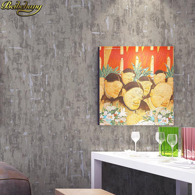 beibehang Plain retro solid gray wallpaper for walls 3 d wall papers home decor for living room TV background contact paper roll home improvement modern solid color non woven wallpaper for walls roll bedroom living room tv background wall papers home decor