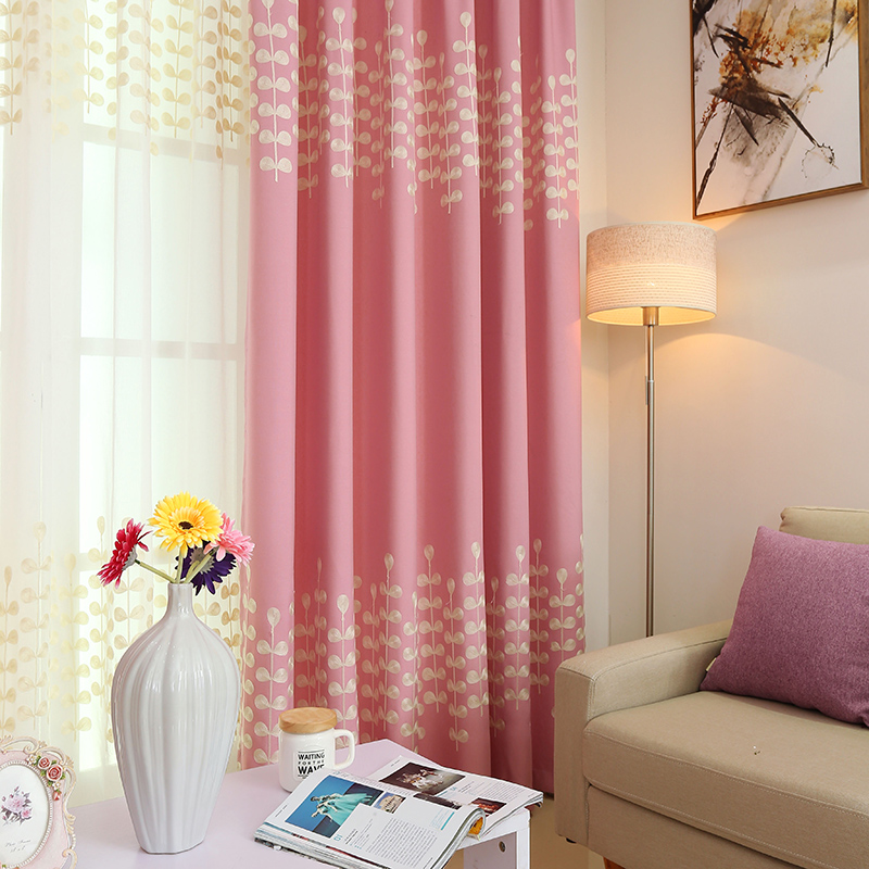Chinese Pink Green Modern Embroidered Curtains For Living Room Window Bedroom Children Drapes Panels In From Home