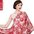 2016 Do Sexo Feminino inverno cachecóis xale floral bonito impresso cachecol de lã marca de luxo pashmina foulard femme tamanho infinito 190*68 cm