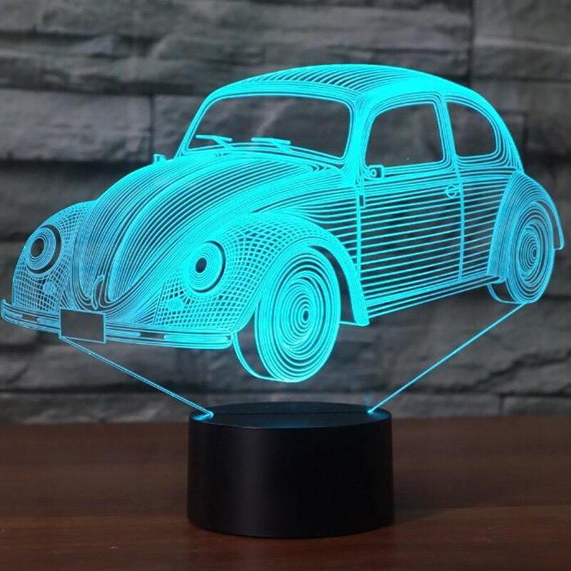 7 Colori Modello di Auto Visiva 3D HA CONDOTTO LA Lampada 7 Colori Che Cambiano 3d Luce di Notte Cool Boy Room Decor Regalo Di Compleanno lampada Atmosfera