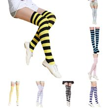 5a7039d674b Knee Socks Women Japanese korean Style Casual Fashion Wide Striped Color High  Socks Stockings Sexy All-match Thigh High Socks