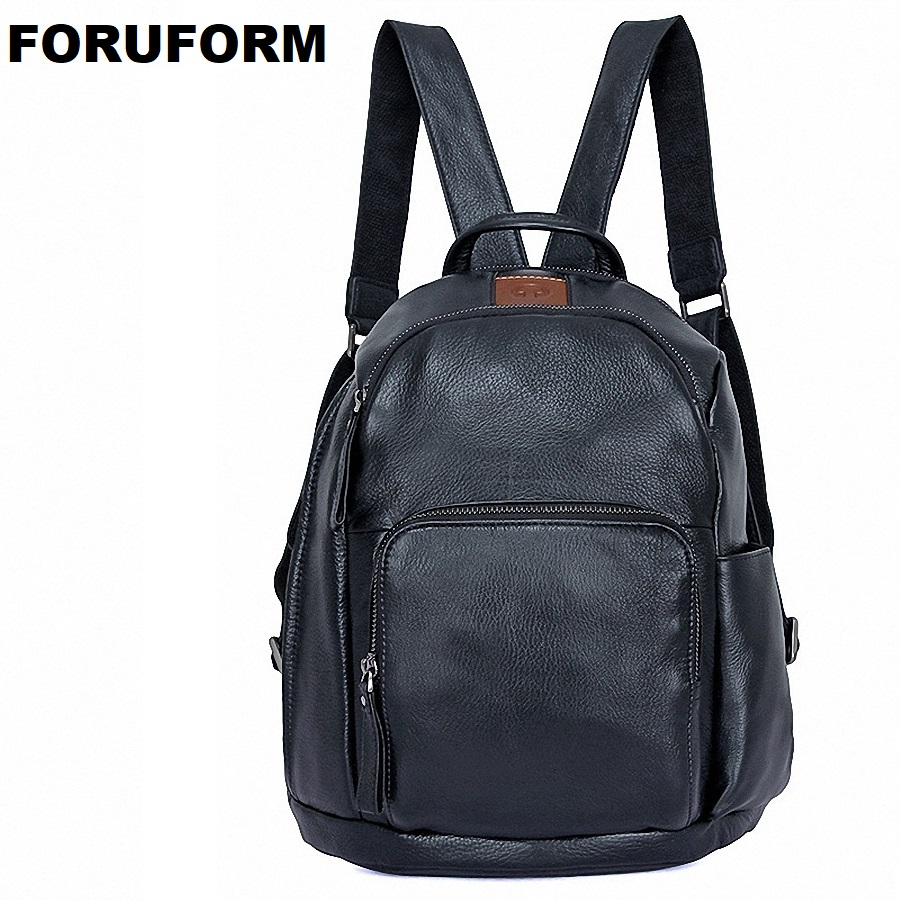 High Quality Genuine Leather Men Fashion Backpack Male Vintage School Bag Male Backpack Teenagers Women Travel Backpacks LI-2087 male classic microfiber leather backpack