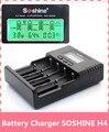 Оригинал Soshine H4 ЖК Универсальный Регулируемая Зарядное Устройство Для 26650 18650 16340 Литий-Ионный NiMH LiIFePO4 1.2 В C AA AAA + Автомобиль/ЗАРЯДНОЕ зарядное устройство