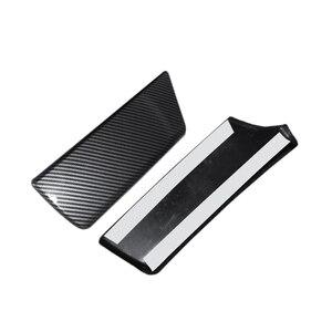 Image 3 - Voor Bmw 5 Serie F10 F18 2011 2012 2013 2014 2015 2016 2017 Carbon Fiber Textuur Car Center Controle Armsteun doos Pad Cover