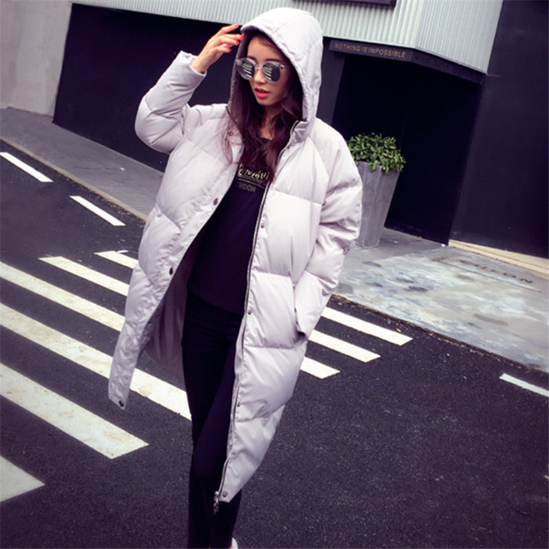 2019 Fashion Loose Warm Hooded Winter Jacket Women Coat Female Suit Thick Long European Style Down Parka Casaco Feminino WUJ0726