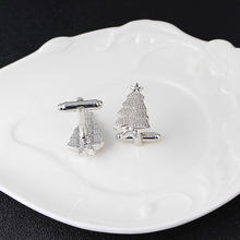 Christmas tree Cufflinks For Mens French Shirt Cuff Links Design Copper Material Cufflink Jewelry Gift