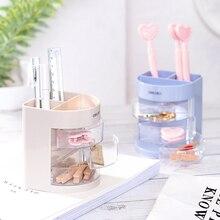 цены Mini color pencil holder stand box storage Stationery office desk accessories School supplies organizador escritorio A6068