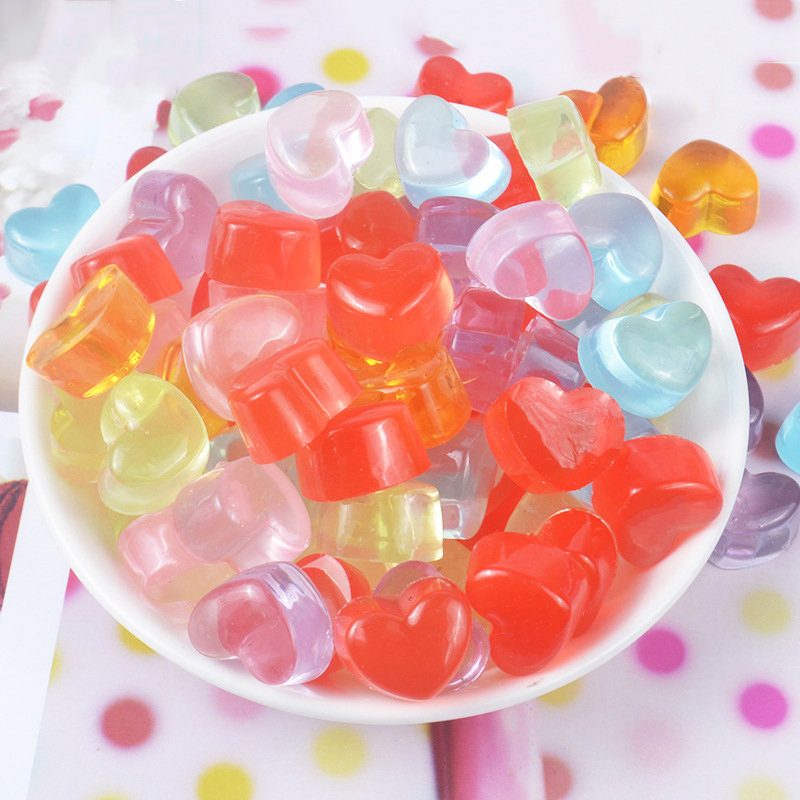 Happy Monkey 20pcs/pack Soft Resin Love Candy DIY Slime Accessories Toys Mini Cute Slime Supplies Filler For Fluffy Clear Slime