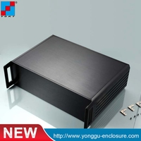 2U Custom IRD Cabinet Aluminum Enclosure Integrated Receiver Decoder