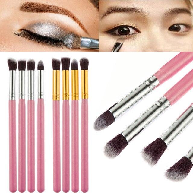 2019 nuevos pinceles de maquillaje profesional de 4 piezas Set de brochas maquillaje de brochas de polvo de sombra de ojos de color rosa
