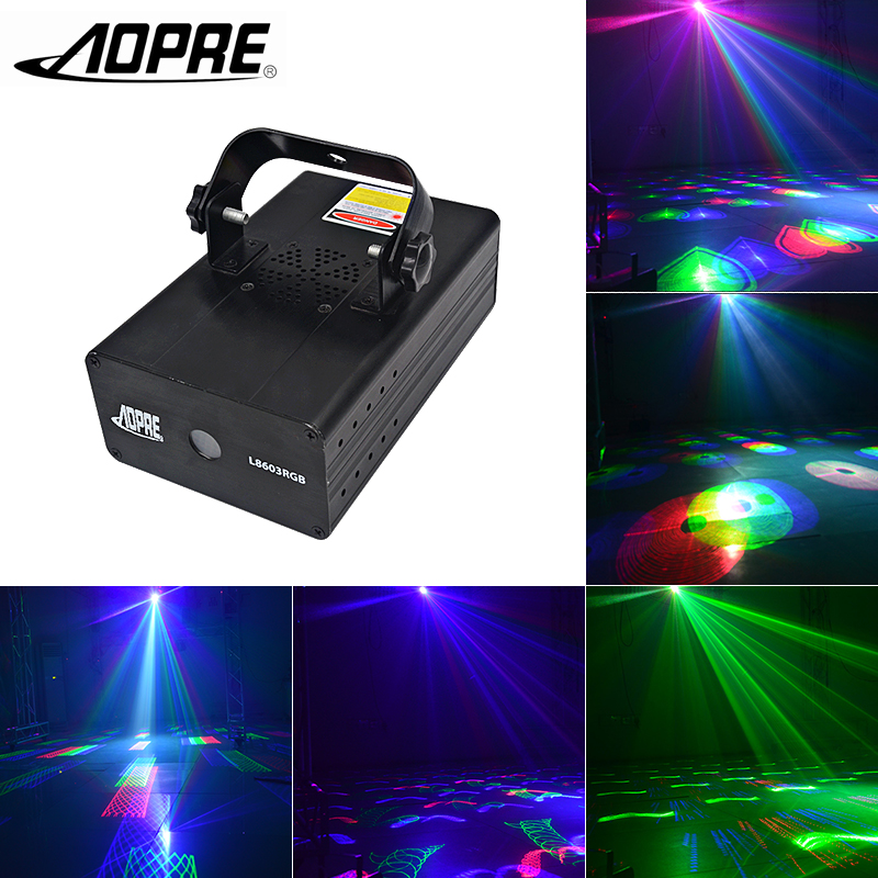 RGB Laser Light DMX Animation Laser Projector Sound Activated Auto Stage Lighting with Manual Remote Control for Party DJ Light animation laser light projector with dmx sound auto mode animated beam stage lighting effect play for disco bar party show