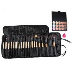 15 color beauty makeup concealer platte 24pcs pro makeup cosmetic brushes sponge puff set 2016 hot.jpg 250x250