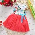 2017 Verano de la muchacha niño niños ropa de marca vestido de flores para las niñas niños ropa de fiesta de cumpleaños de princesa tutu vestido vestido