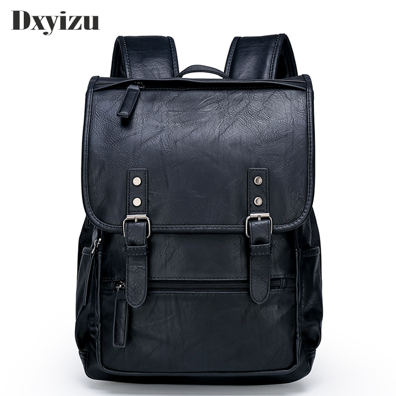 Fashion Men Casual Backpack Travel Schoolbag Man Large Capacity Teenager Luxury Bag Mochila Genuine Leather Laptop Backpacks