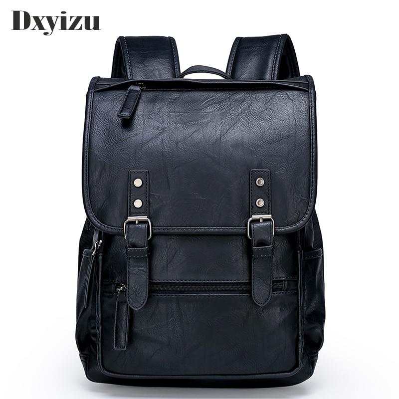 Fashion Men Casual Backpack Travel Schoolbag Man Large Capacity Teenager Luxury Bag Mochila Genuine Leather Laptop Backpacks