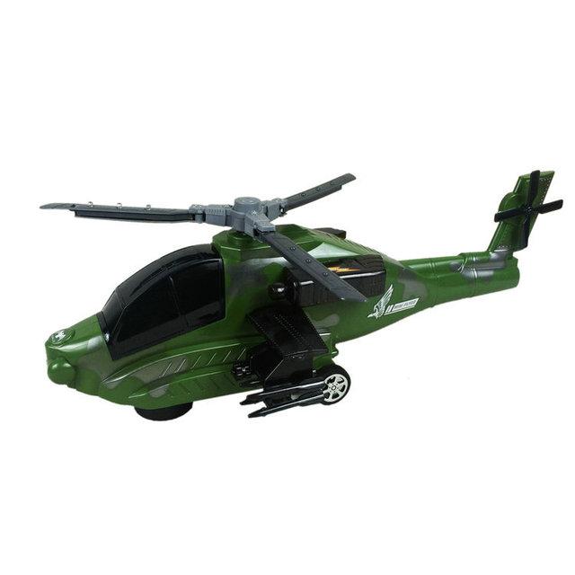 Helicóptero armado eléctrica Flash de la música universal niños aviones avión de juguete eléctrico