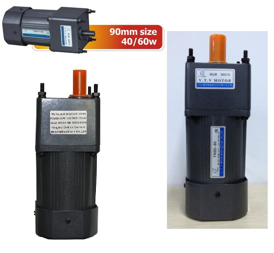 VTV ac Gear motor reducer 90mm size 60 W watts YN90-60 speed reducer 110 220 V AC geared motor замыкатель ux motor lc1d09 ac 110 50 60 3 nc